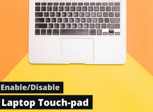 disable/enable laptop touch pad